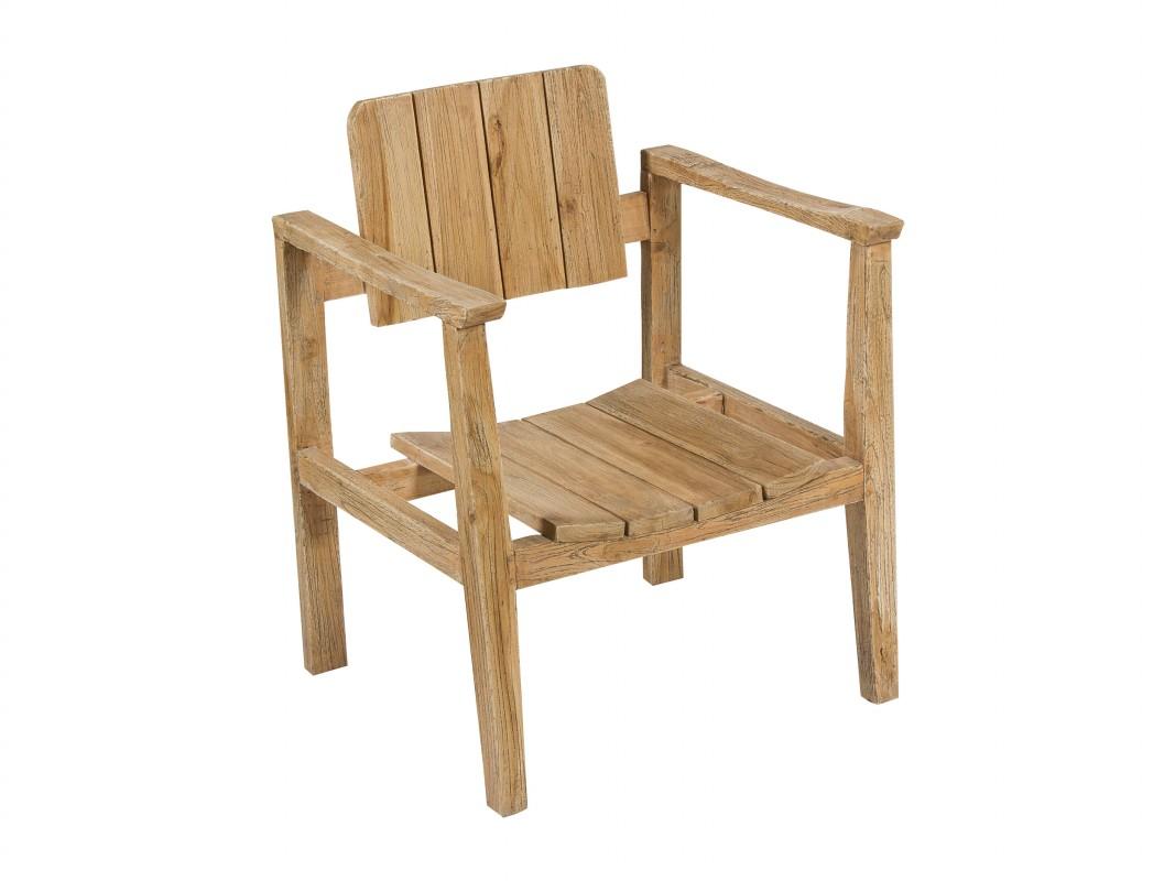 Silla de madera con brazos for Sillas comedor madera con brazos