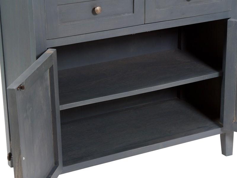 Mueble 2 puertas y 2 cajones gris oscuro for Mueble gris oscuro