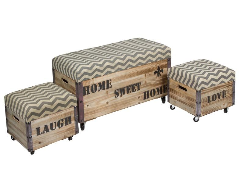 Baules con ruedas de madera vintage baules decorativos - Baules decorativos ...