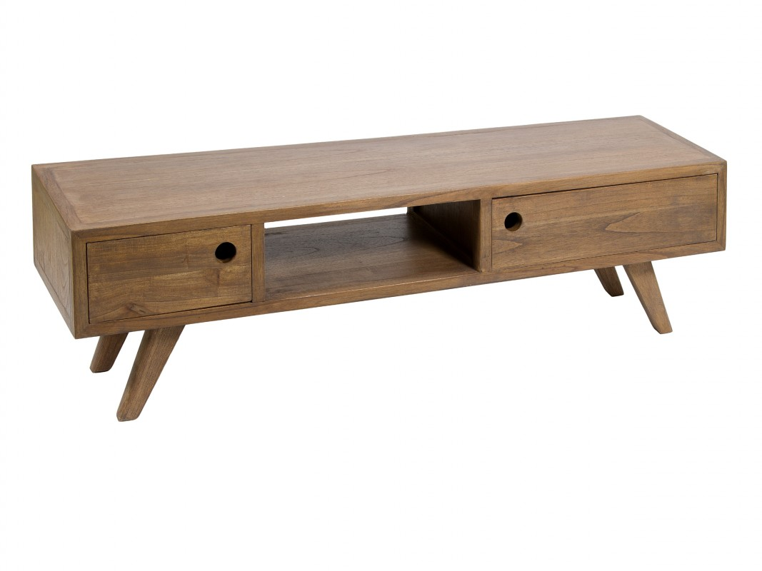 Mueble bajo tv de madera estilo zen mesa tv escandinava for Muebles estilo zen