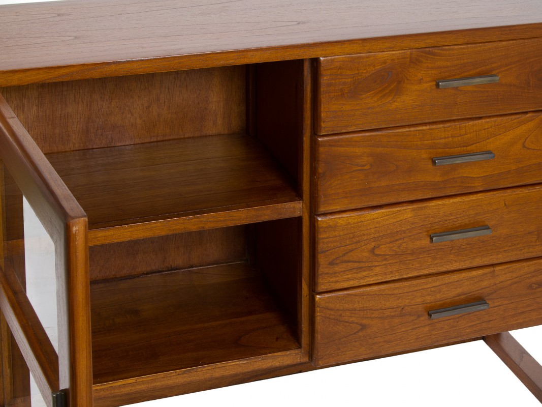 Armario Indoor Casero Paso A Paso ~ Aparador nogal pequeño de madera de acacia estilo colonial