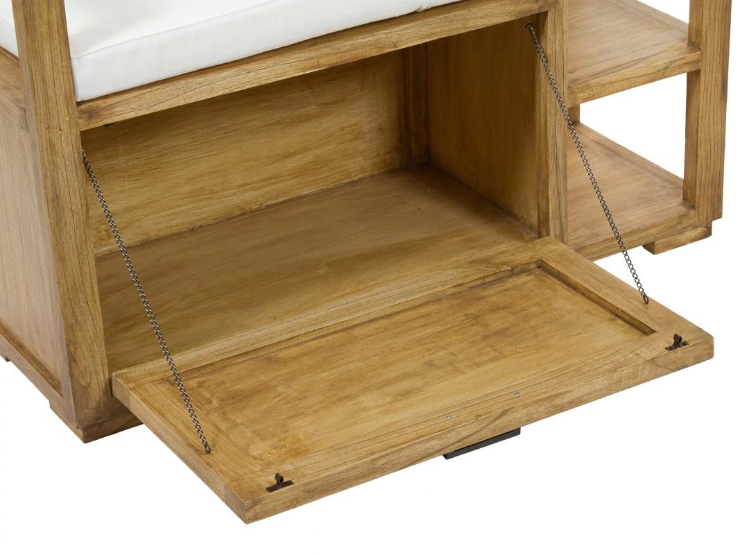 Banco baul de madera estilo r stico para pie de cama - Bancos de madera rusticos ...