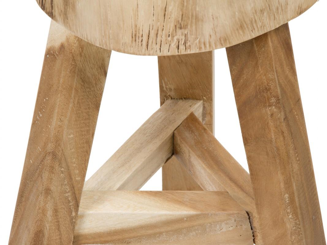 Taburete redondo de madera estilo r stico venta online for Taburetes de madera rusticos