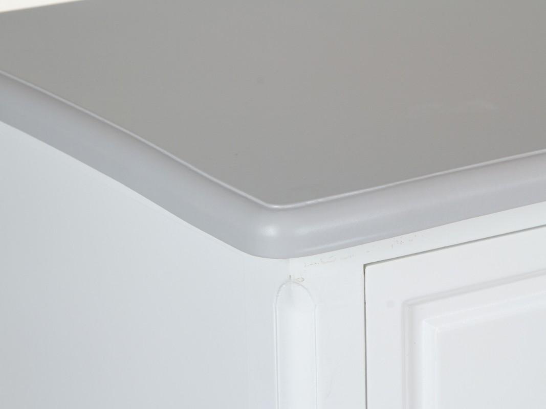 C moda antigua blanca y gris de madera con 7 cajones - Comodas antiguas blancas ...