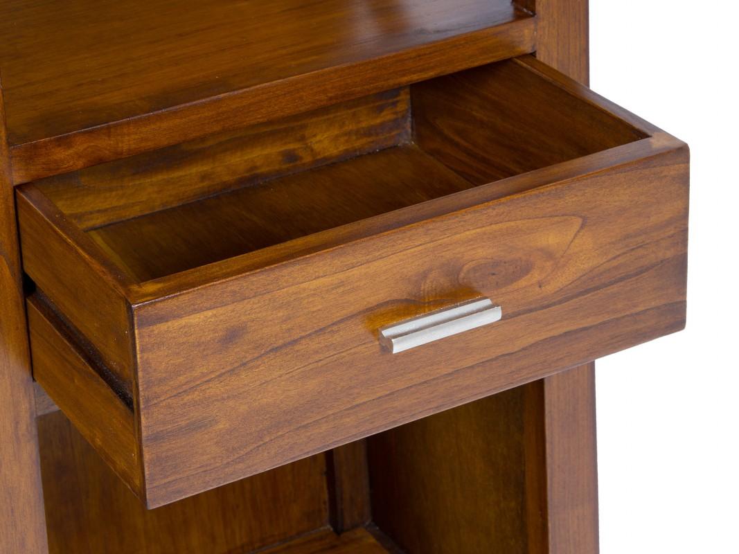 Mueble sal n colonial de madera de acacia color nogal - Muebles de madera color nogal ...