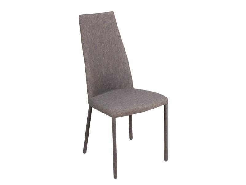 Conjunto de mesa blanca lacada y sillas tapizadas de comedor for Sillas de comedor tapizadas