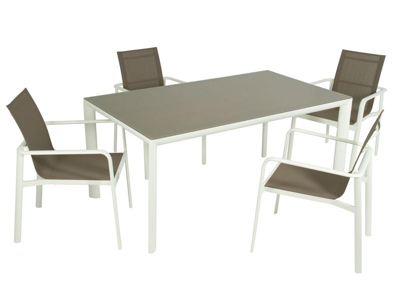 Conjunto mesa y 4 sillas de exterior estilo moderno - Conjunto mesa y sillas exterior ...