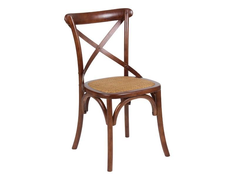 Mesa extensible y 4 sillas cruceta madera estilo colonial