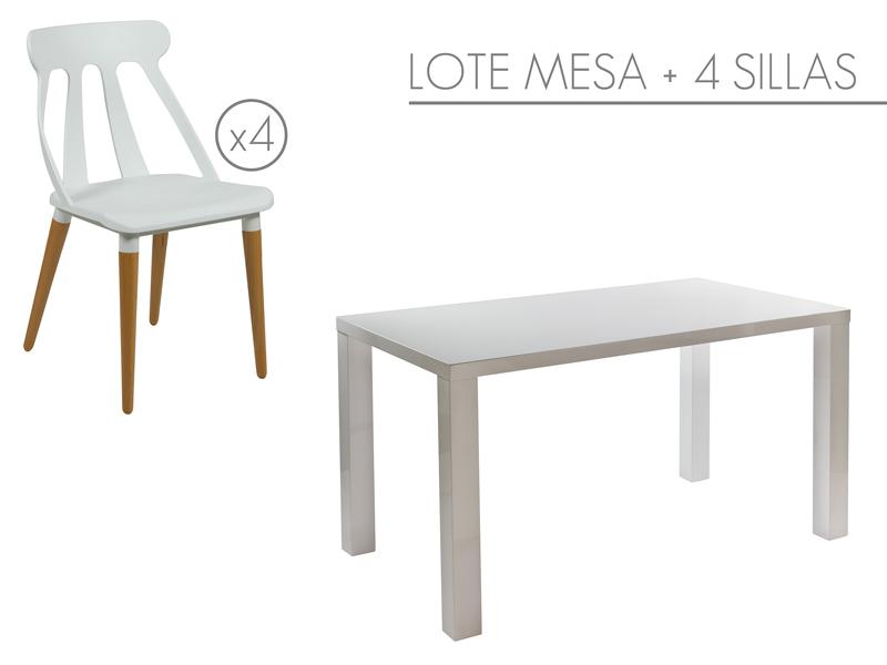 Conjunto mesa dm y 4 sillas modernas - Mesa y sillas modernas ...