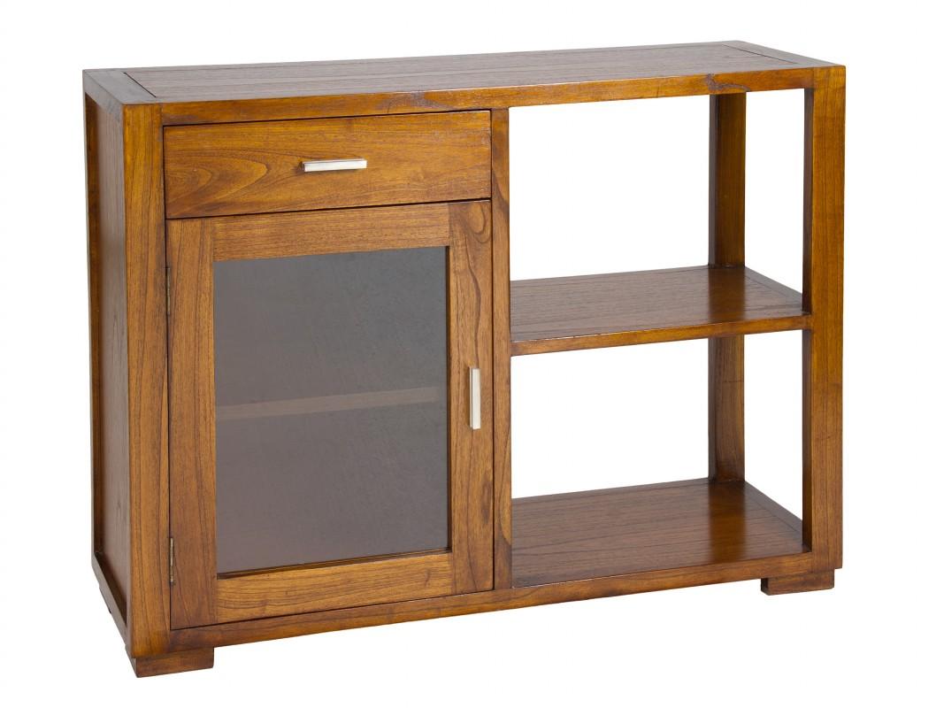 mueble auxiliar de madera para sal n estilo colonial