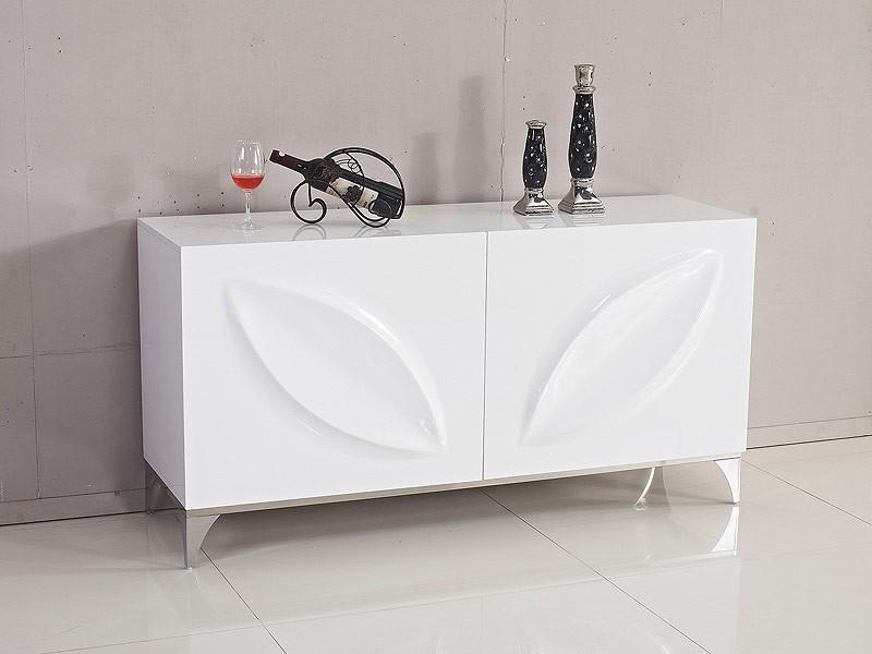 Interior Armario Kvikne Ikea ~ Aparador de diseño blanco lacado MDF y acero con 2 puertas
