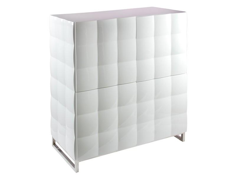 Artesanato Recife Marco Zero ~ Aparador estrecho de diseño blanco lacado Aparadores salón