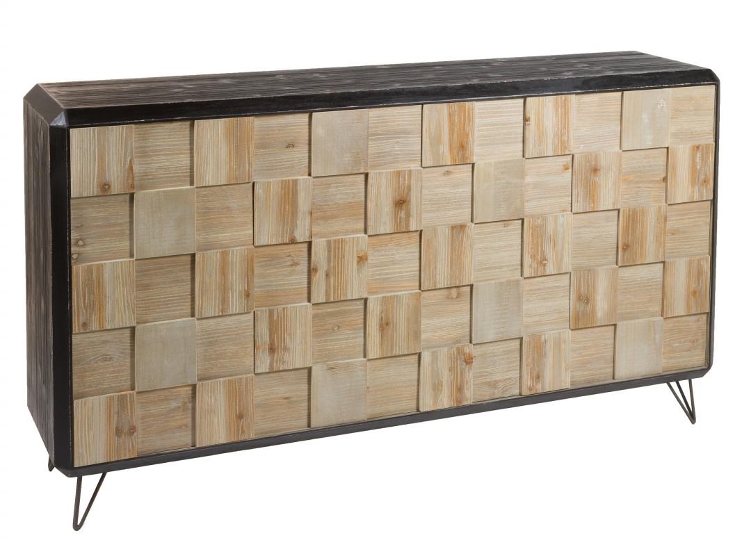 Aparador industrial decapado de madera de abeto con patas - Aparador industrial ...