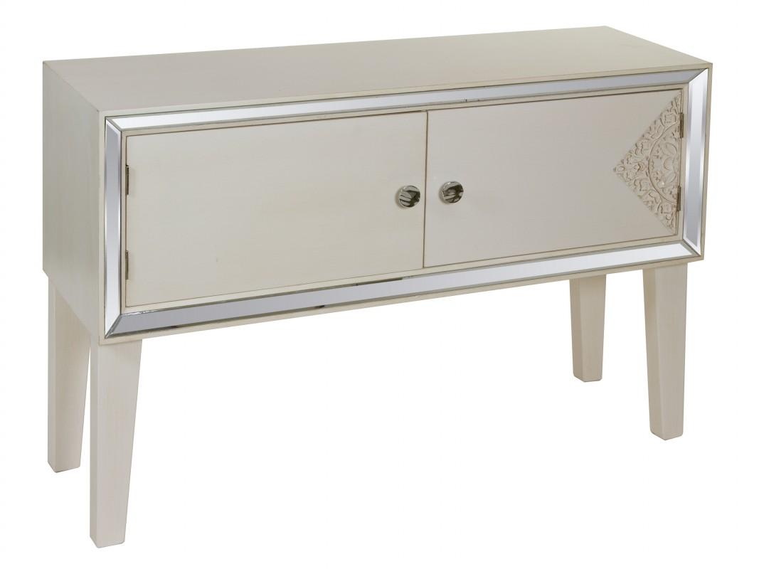 Aparador Sala De Jantar Rustico ~ Aparador gris pequeño con cristal de espejo Venta online