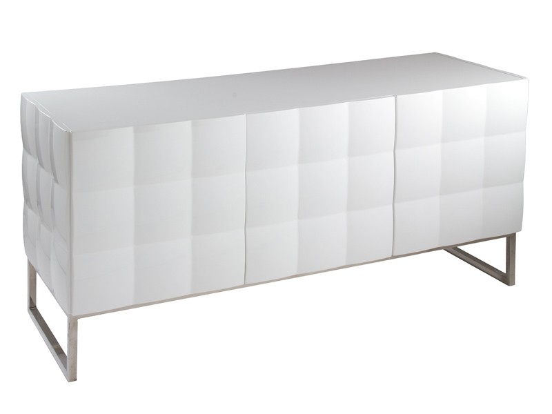 Aparador moderno blanco lacado sin tiradores for Muebles aparadores modernos