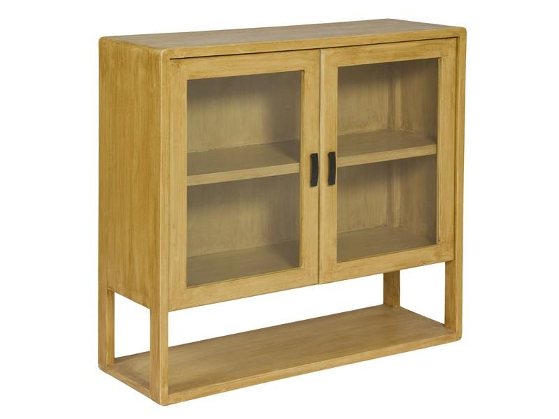 Aparador peque o de madera natural estilo vintage for Natura muebles