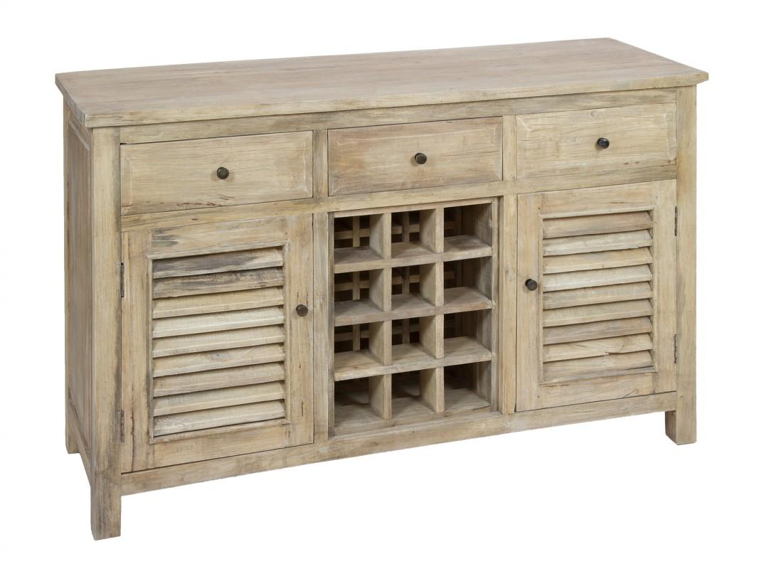Aparador madera envejecida botellero aparadores envejecidos - Mueble botellero cocina ...