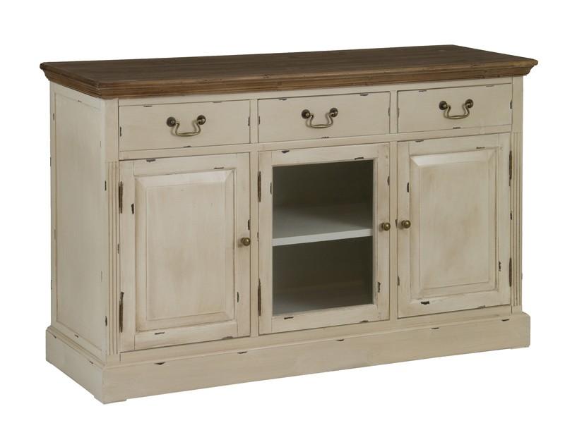 Aparador vintage de madera decapada aparadores vintage - Muebles decapados en blanco ...