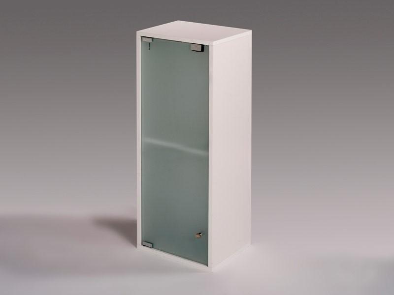 Armario para ba o rectangular con puerta de cristal de 80 cm - Armario con puertas de cristal ...