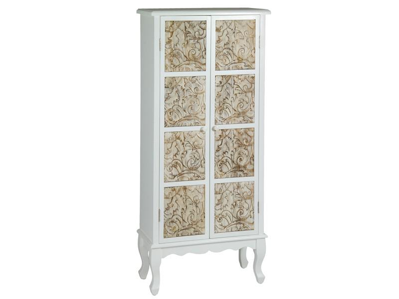 Armario peque o isabelino de dm y madera de pino 2 puertas - Armario madera blanco ...