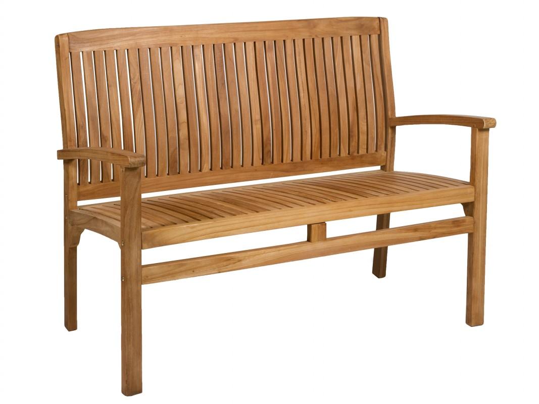 Banco bali de madera de teca bancos para terraza y jard n for Sofa de madera para terraza