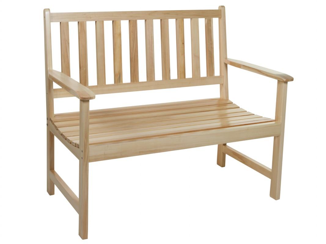 Banco de exterior madera de lamo natural banco madera para terraza - Banco madera exterior ...