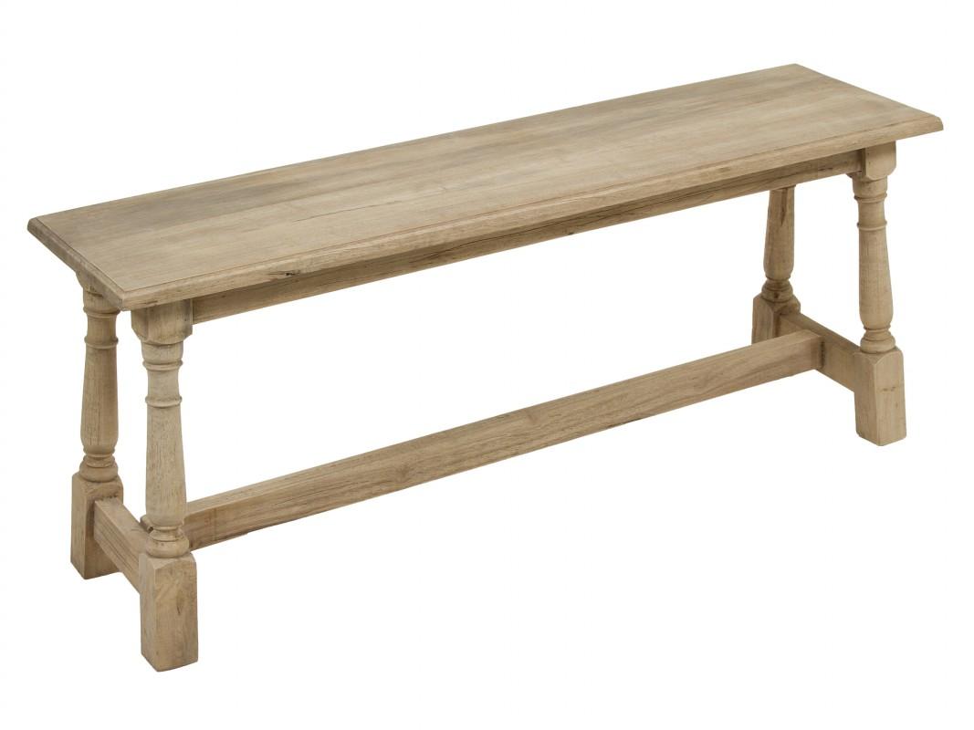 Banqueta de madera estilo r stico para recibidor o sal n for Banquetas de madera