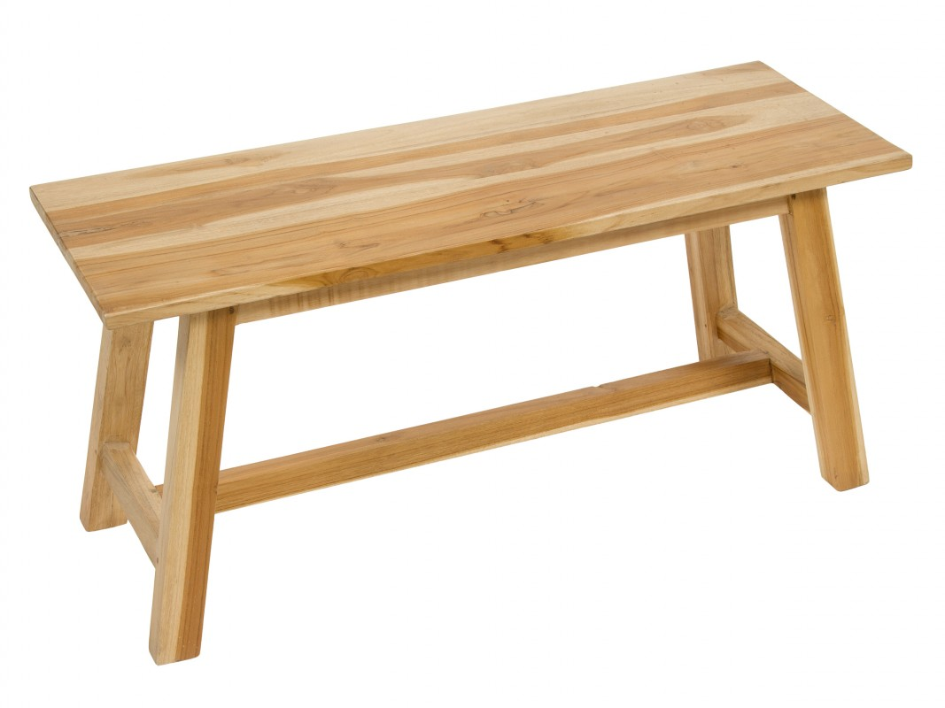 Banqueta de madera sin respaldo para interior o exterior - Banqueta de madera ...