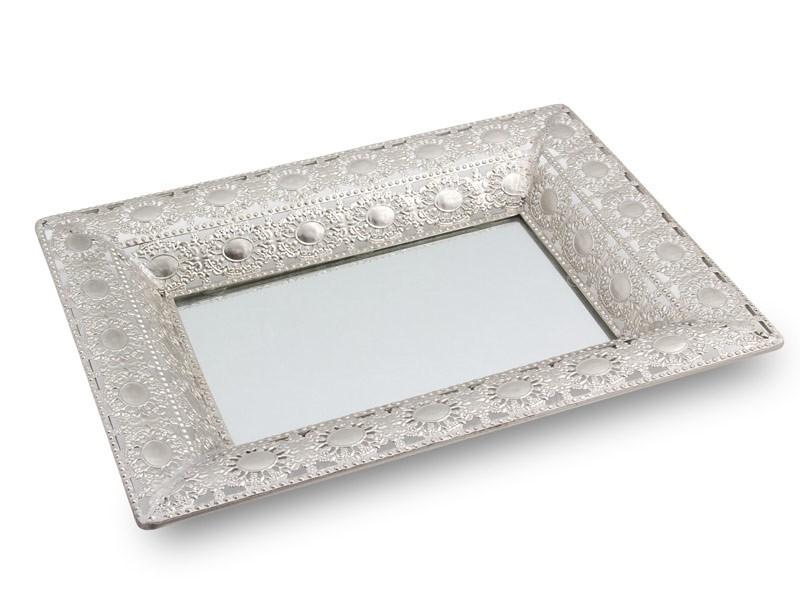 Bandeja de metal con espejo para centro de mesa - Bandeja metal ...