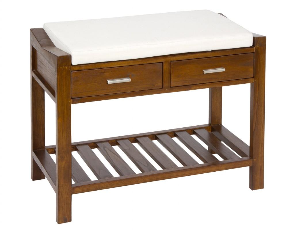 Banqueta pie de cama con cajones para el dormitorio for Banquetas de madera