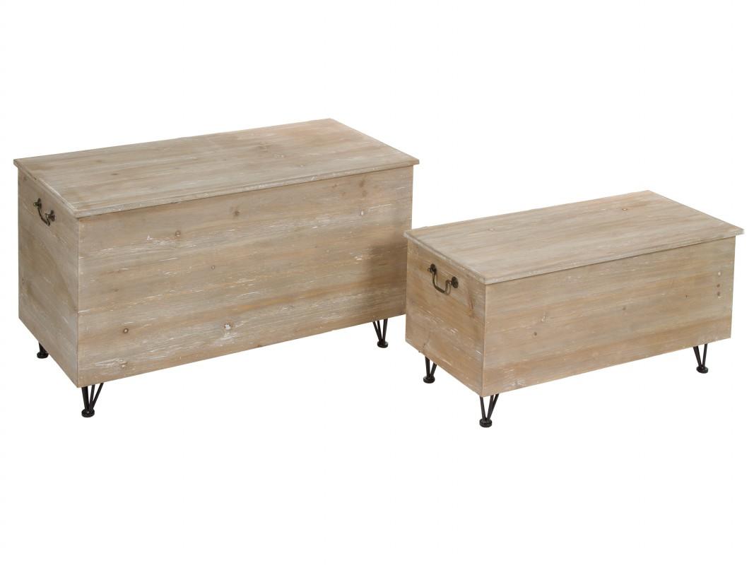 Ba les industriales de madera de abeto envejecida - Baules de madera baratos ...