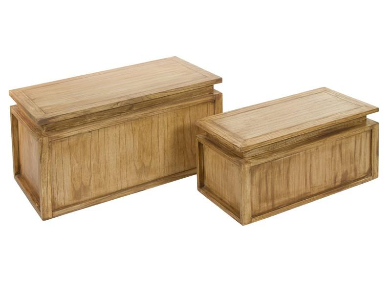 Arcones de madera de mindi envejecida baules decoracion - Baules baratos madera ...