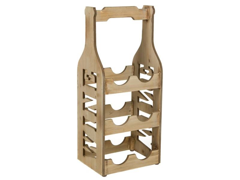 Botellero de suelo de madera estilo r stico con acabado - Botellero de madera para vino ...