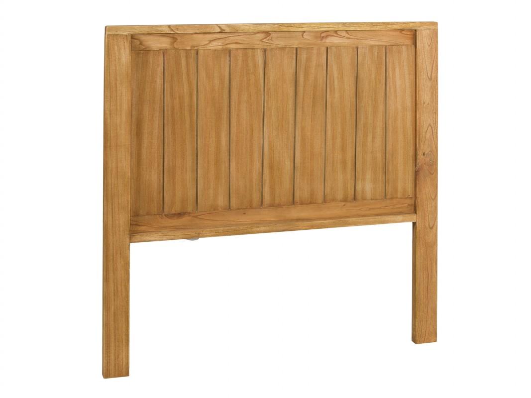 Cabecero para cama de 90 de madera de mindi estilo r stico - Cabeceros de cama antiguos ...