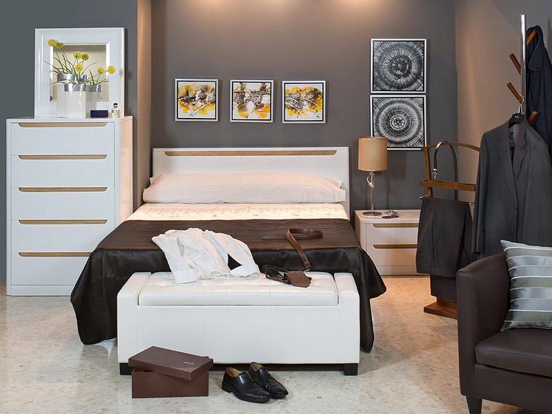 Cabecero cama de matrimonio de 160 cm en color blanco for Cabecero cama 90 blanco