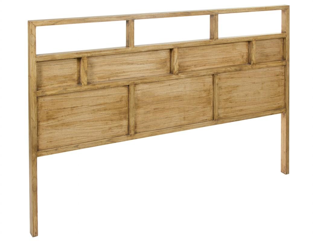Cabecero grande de madera estilo r stico 160 cm - Cabeceros rusticos de madera ...
