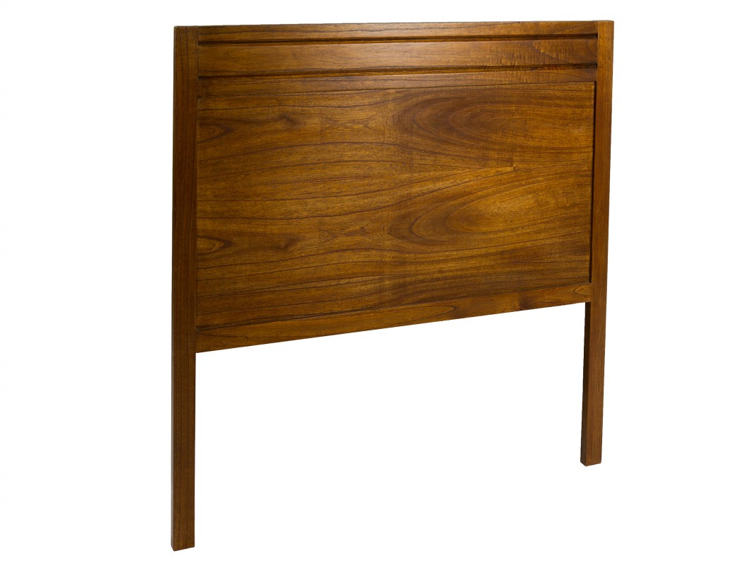 Cabecero nogal cama individual de madera estilo colonial - Cabeceros de madera a medida ...