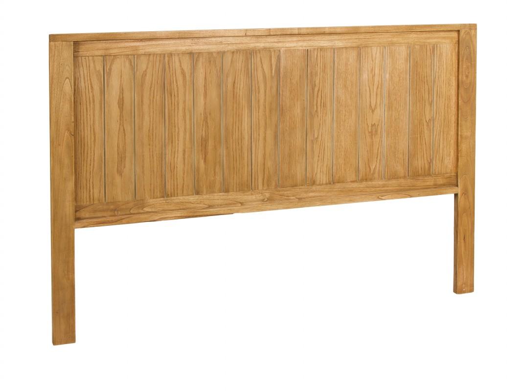 Cabecero r stico de madera de mindi para cama grande - Cabeceros de cama rusticos ...