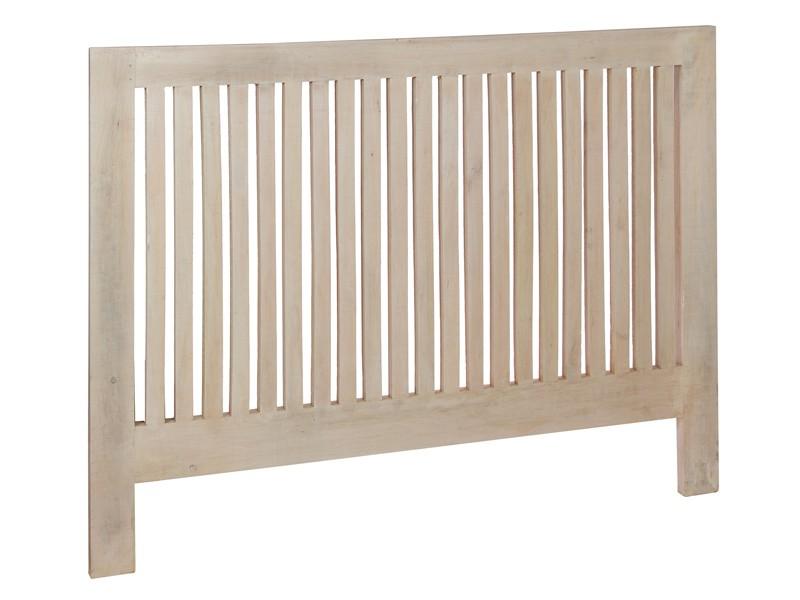 Cabecero vintage de madera envejecida cama de matrimonio