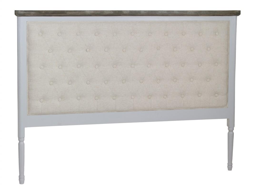 Cabecero cama tapizado estilo vintage de madera envejecida - Cabeceros tapizados vintage ...