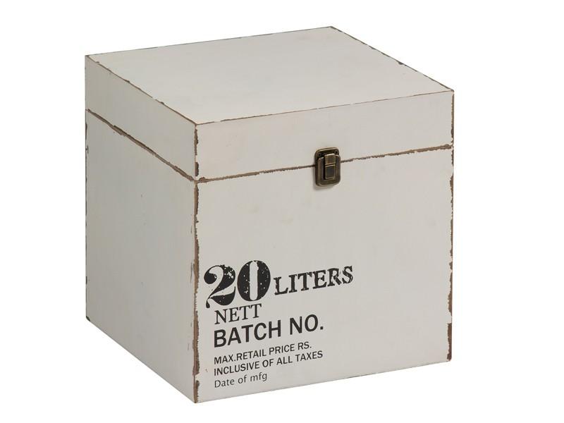 Caja de madera vintage blanca cajas decorativas online - Cajas de madera online ...