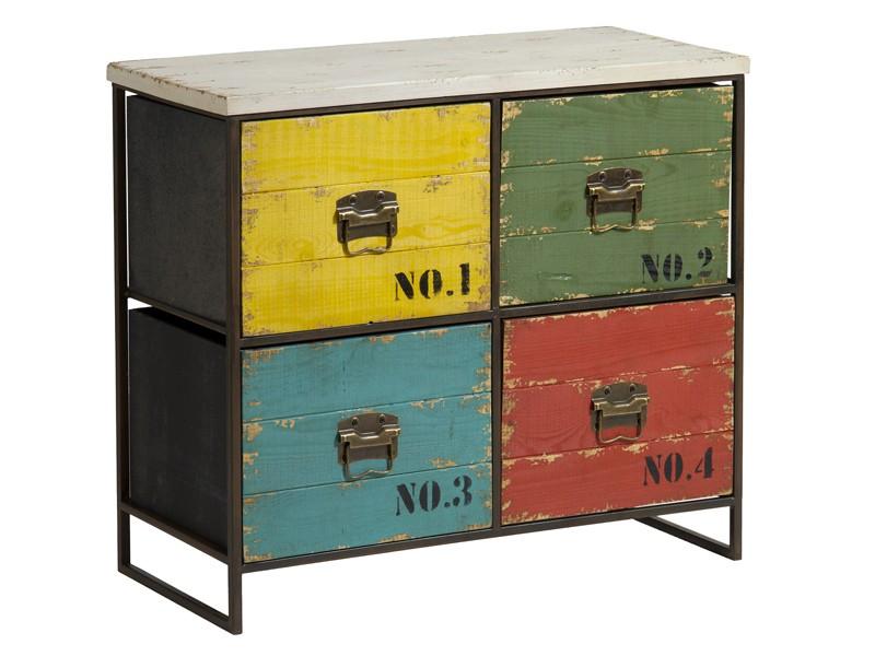 Mueble auxiliar vintage de colores muebles retro for Muebles retro online