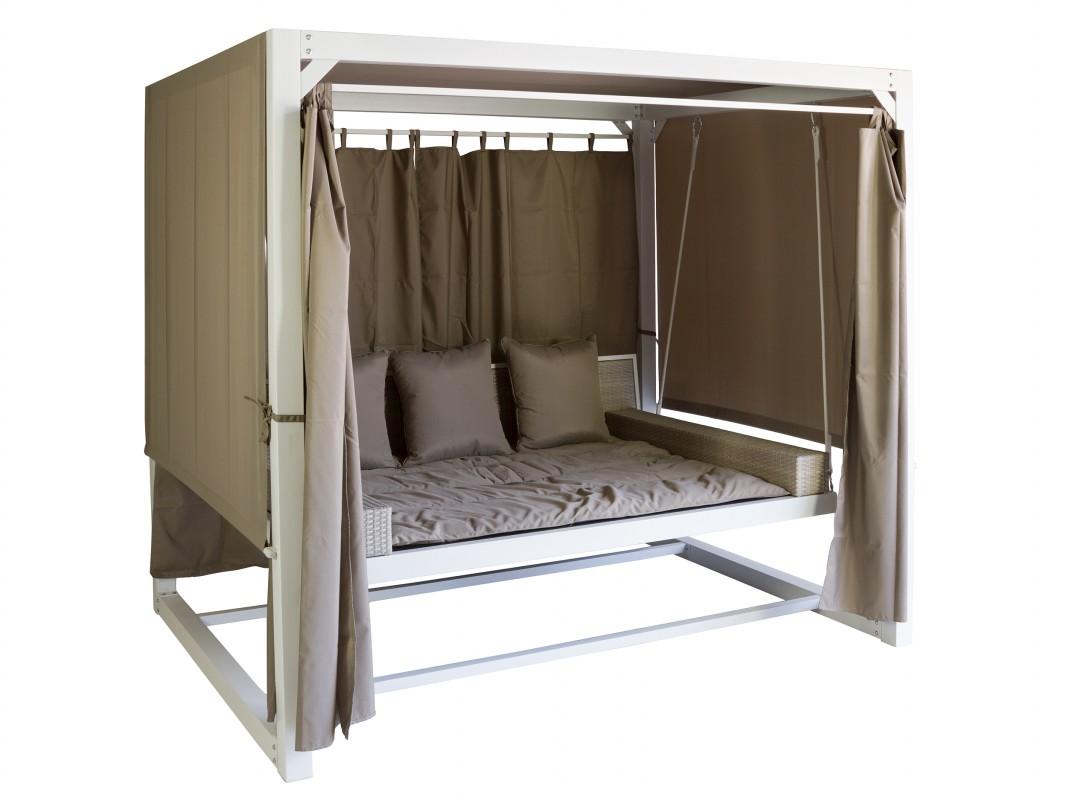 cama balancn jardn de ratn y aluminio - Balancin De Jardin