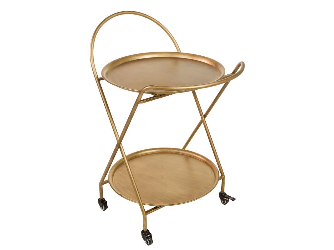 Camarera vintage dorada mesa camarera de hierro color dorado - Carrito camarera vintage ...