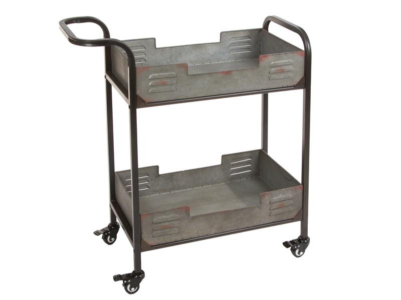 Carrito de cocina industrial con bandejas de metal for Material cocina industrial