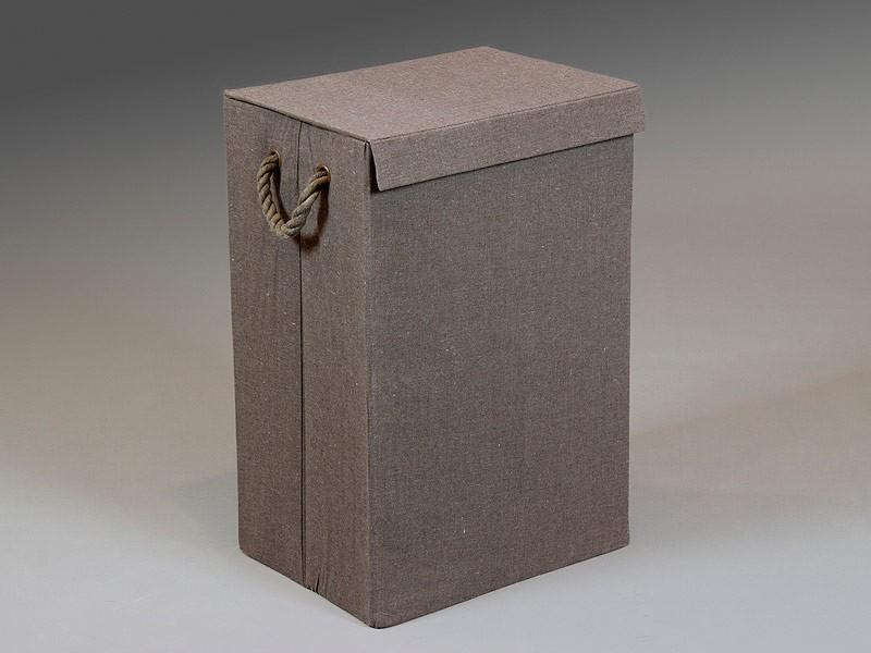 Cesto para ropa fabricado en lino completamente plegable - Cestos para la colada ...