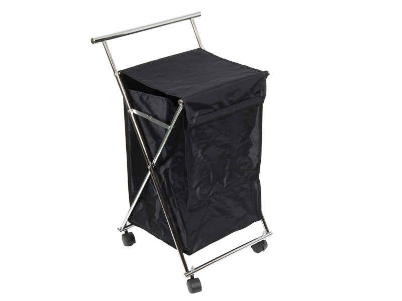 Cesto para ropa sucia con ruedas de color negro - Cestos para la colada ...