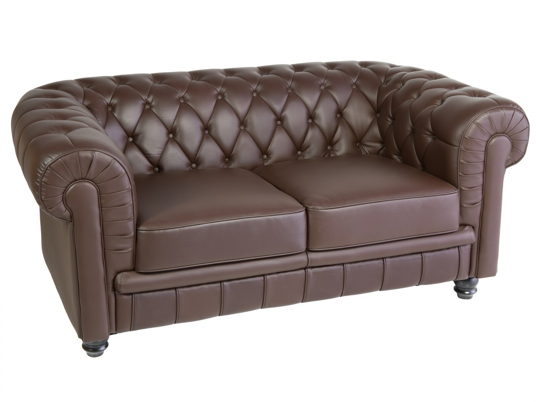 Sof chester 2 plazas con reposabrazos de estilo cl sico for Sofa 2 plazas polipiel