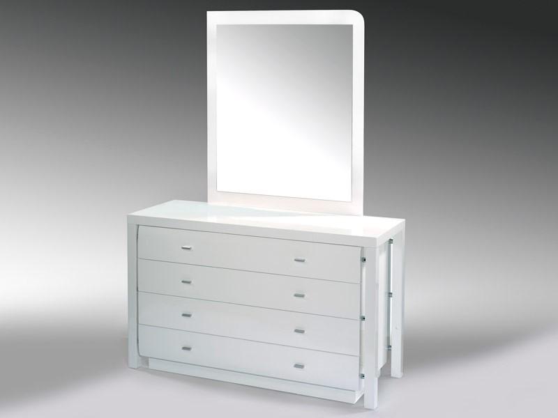 C moda con espejo para dormitorio estilo n rdico c modas - Comoda con espejo ...