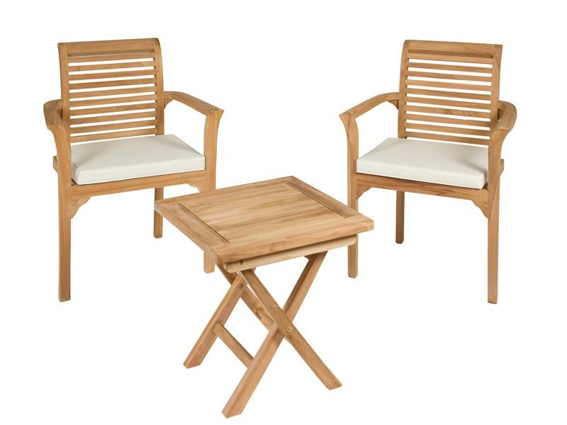 Mesa y sillas de madera para terraza muebles de jard n for Conjunto de mesa de madera y silla de jardin barato
